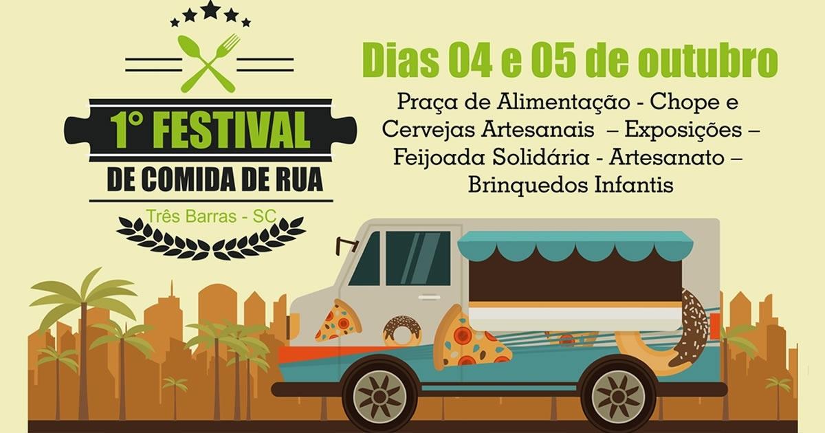 1° Festival de Comida de Rua acontece nos dias 04 e 05 de outubro em Três Barras