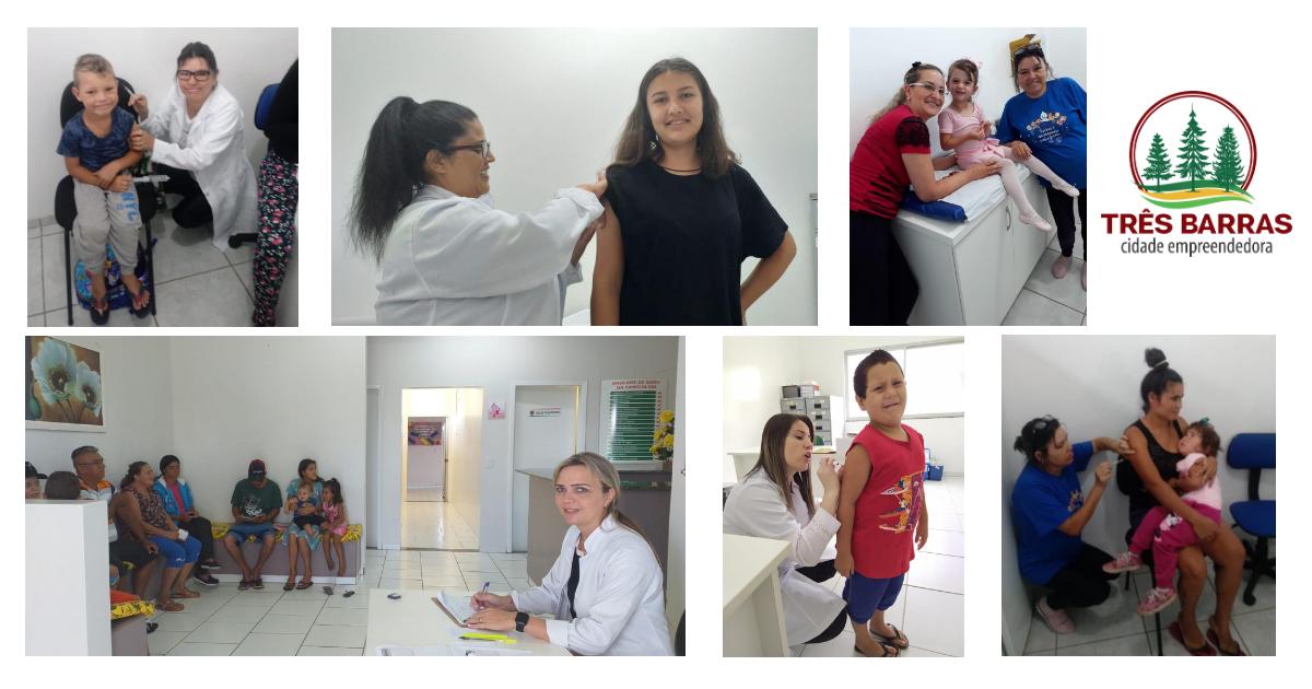 970 pessoas foram às unidades de saúde no dia D de vacinação contra o Sarampo e Febre Amarela