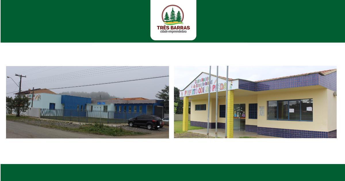 Abertas as inscrições para os plantões de férias em duas creches municipais de Três Barras