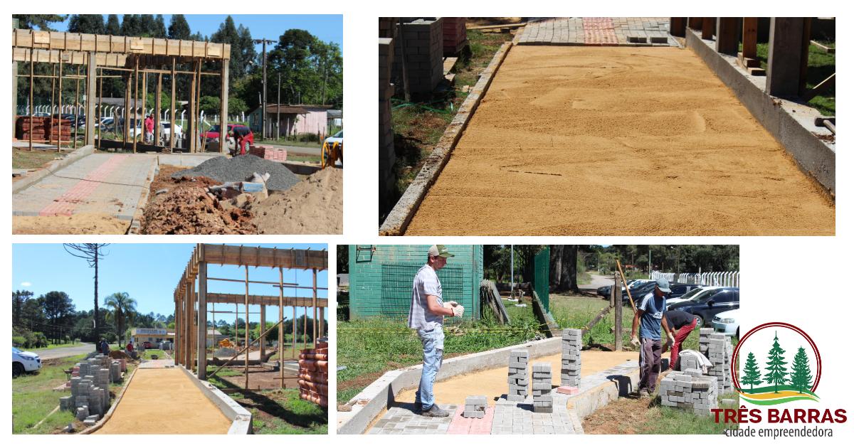 Atual estrutura e novo prédio da escola municipal Francisco Rocha recebem melhorias