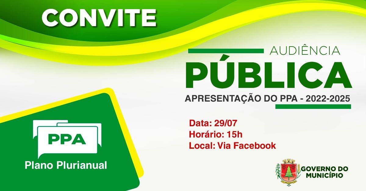 Audiência Pública de Apresentação do PPA - 2022-2025