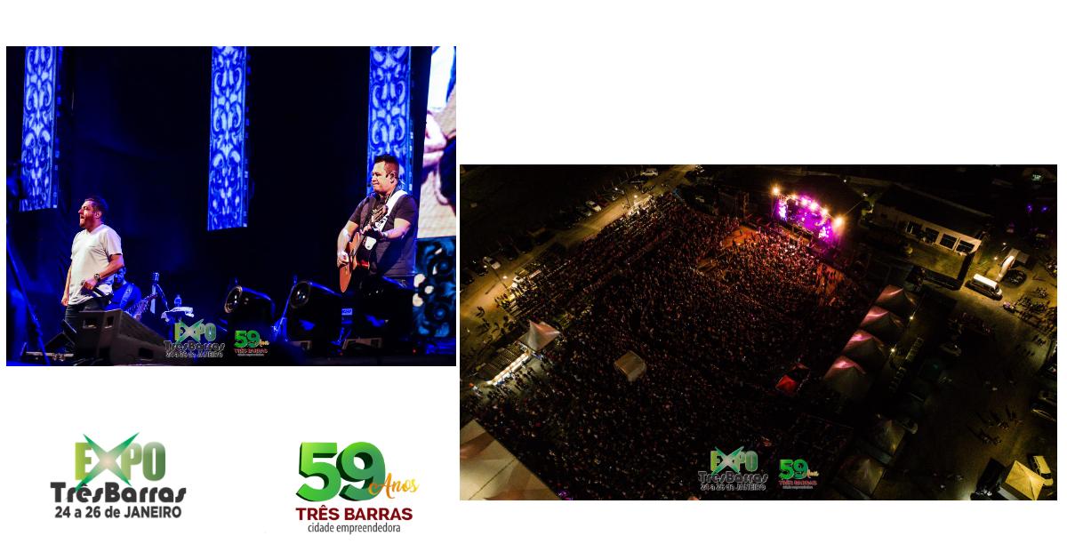 Bruno e Marrone atraem mais de 12 mil pessoas no encerramento da Expo Três Barras