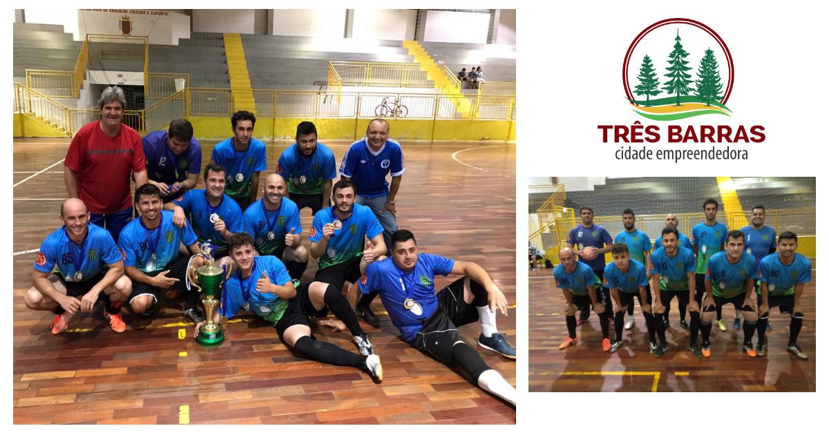 Caic Educação conquista o Campeonato Interno de Futsal da Prefeitura de Três Barras