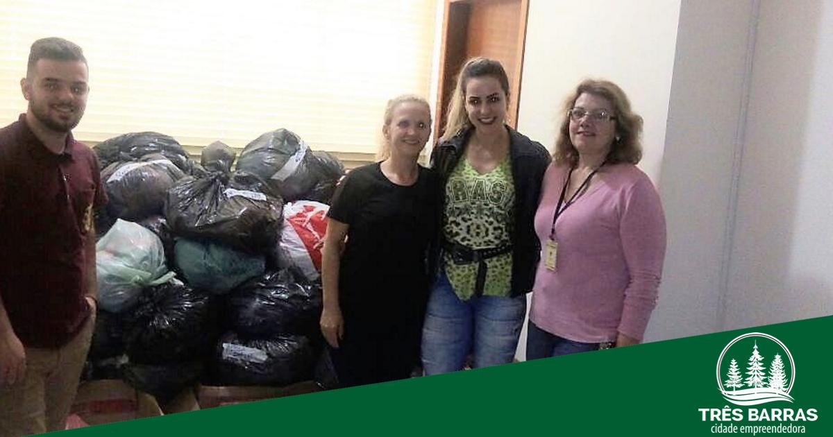 Campanha do Agasalho: donativos podem ser retirados na secretaria de Assistência Social e no CRAS