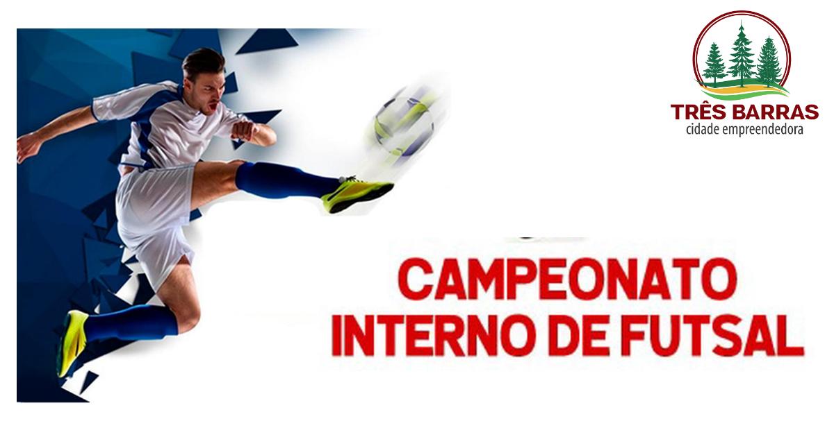 Campeonato Interno de Futsal começa na noite desta sexta-feira em Três Barras