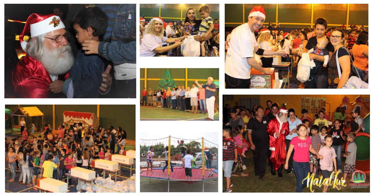 Campininha recebe primeira das quatro festas do Natal Luz em Três Barras