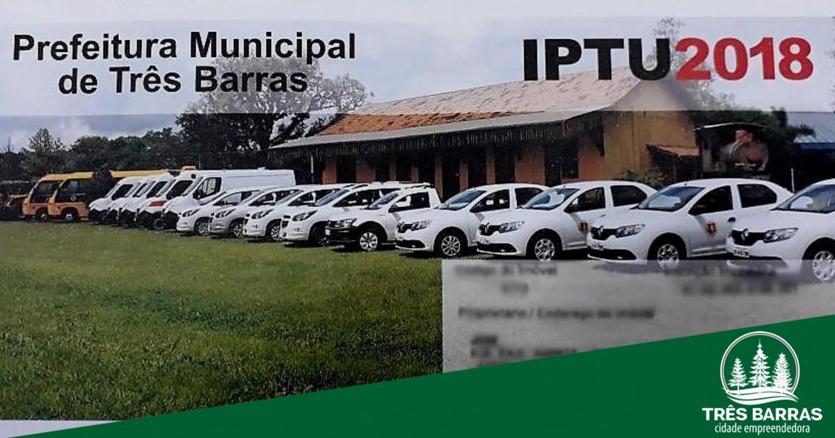 Carnês do IPTU 2018 estão sendo entregues via Correios