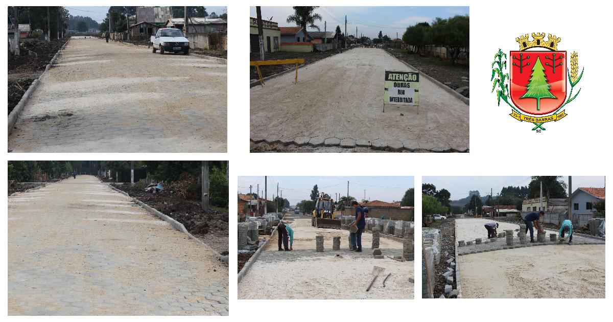 Concluído o calçamento da Rua Emílio Jubanski; Obras na Rua Afonso Krüger estão bem adiantadas