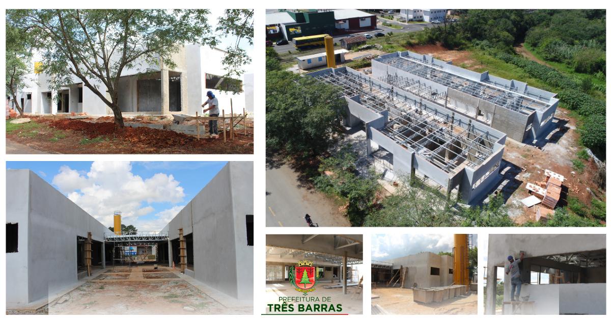 Construção de CMEI segue em ritmo acelerado no centro de Três Barras
