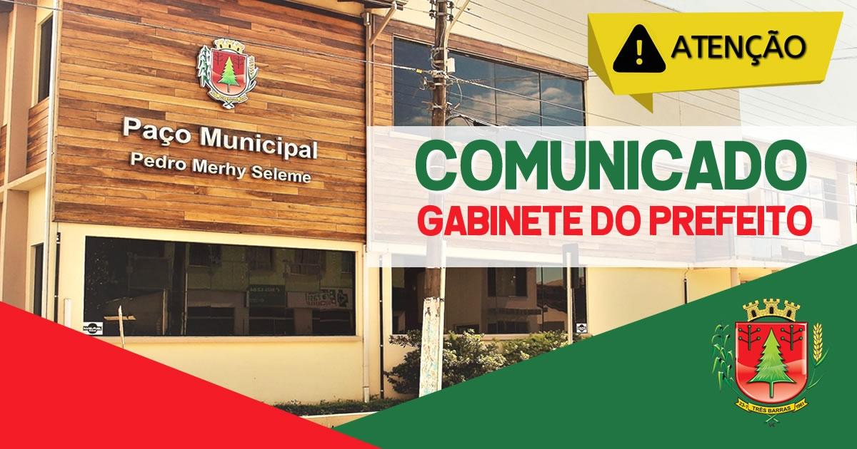 Coronavírus: Prefeitura de Três Barras decreta situação de emergência
