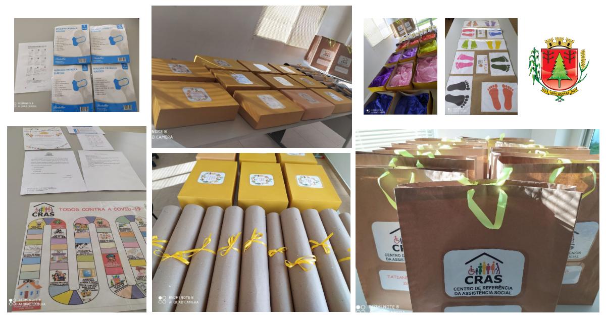 CRAS de Três Barras entrega kits para famílias atendidas pelo PAIF