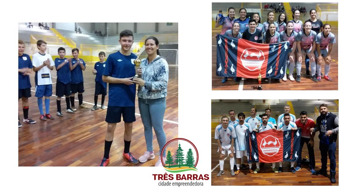 Definidos os 3° lugares no Futsal Infantil, Livre Feminino e Veteranos; Finais acontecem na terça-feira
