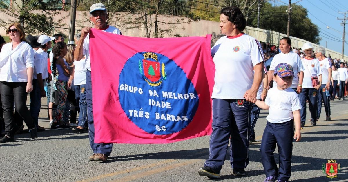 Desfiles cívicos marcam o 7 de setembro em Três Barras