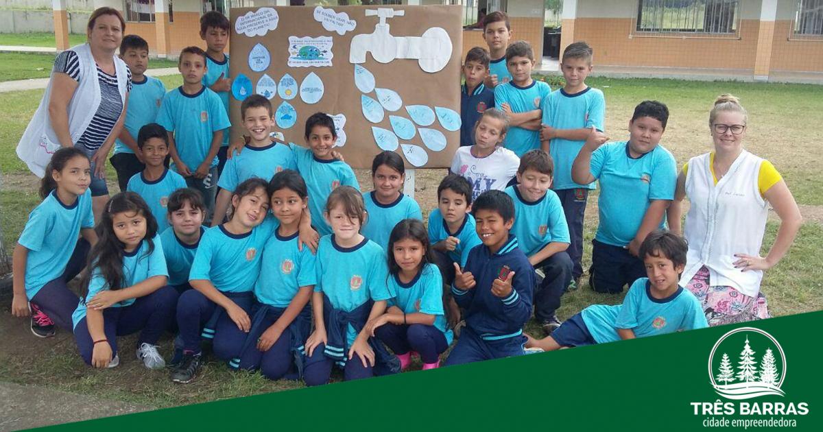 Dia Mundial da Água é comemorado com atividades nas escolas municipais
