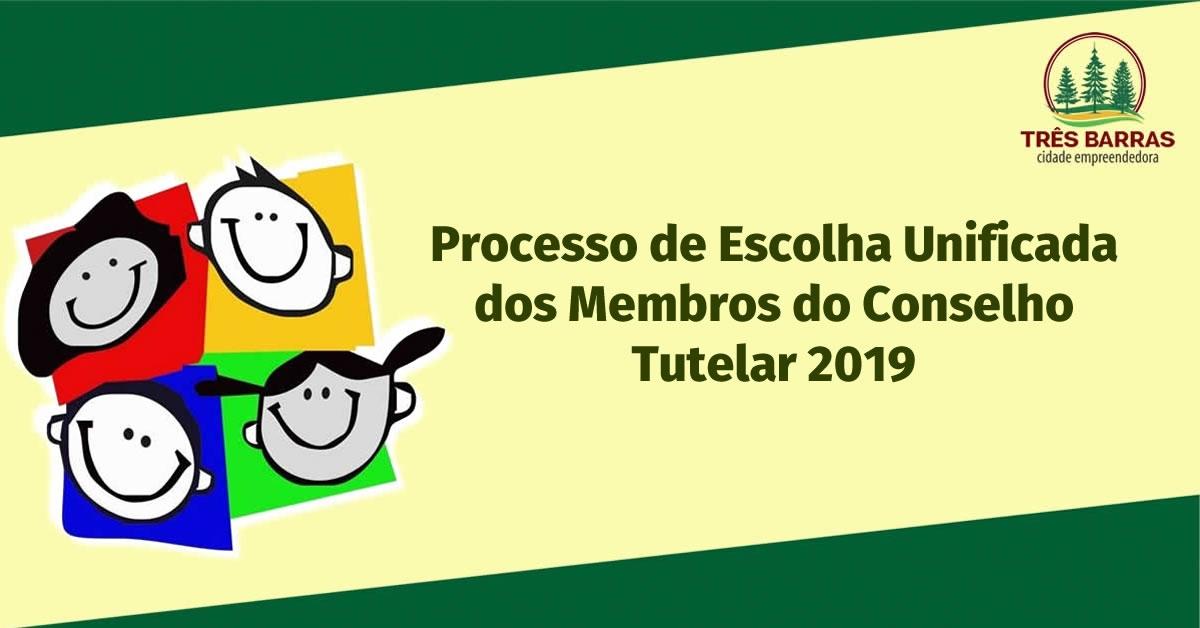 Edital para o Processo de Escolha dos Membros do Conselho Tutelar de Três Barras