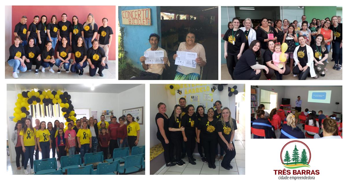 Equipes de saúde promoveram ações alusivas à campanha nacional Setembro Amarelo