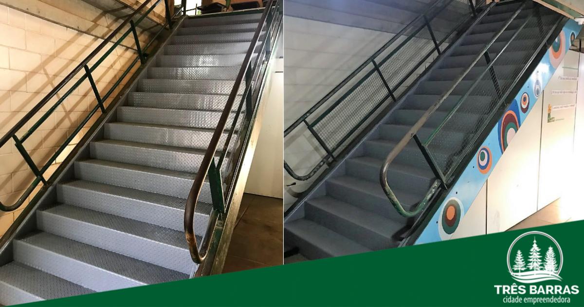 Escola João Pacheco de Miranda Lima (CAIC) ganha novas escadas