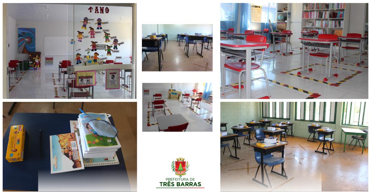 Escolas municipais de Três Barras retomam as aulas nesta quinta-feira