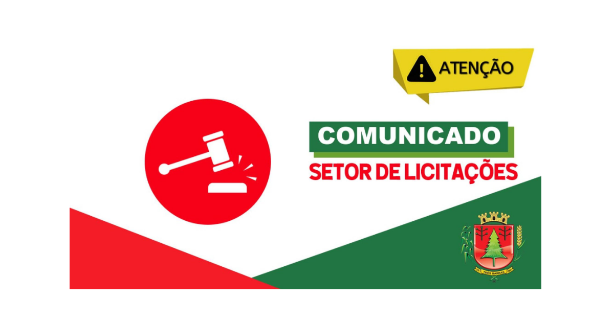 Está suspensa a reunião de abertura e sessão de lances do Procedimento Licitatório n°21/2020