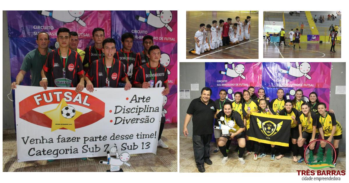Etapa de Três Barras classifica equipes para a fase final do Circuito Sul Brasileiro de Futsal