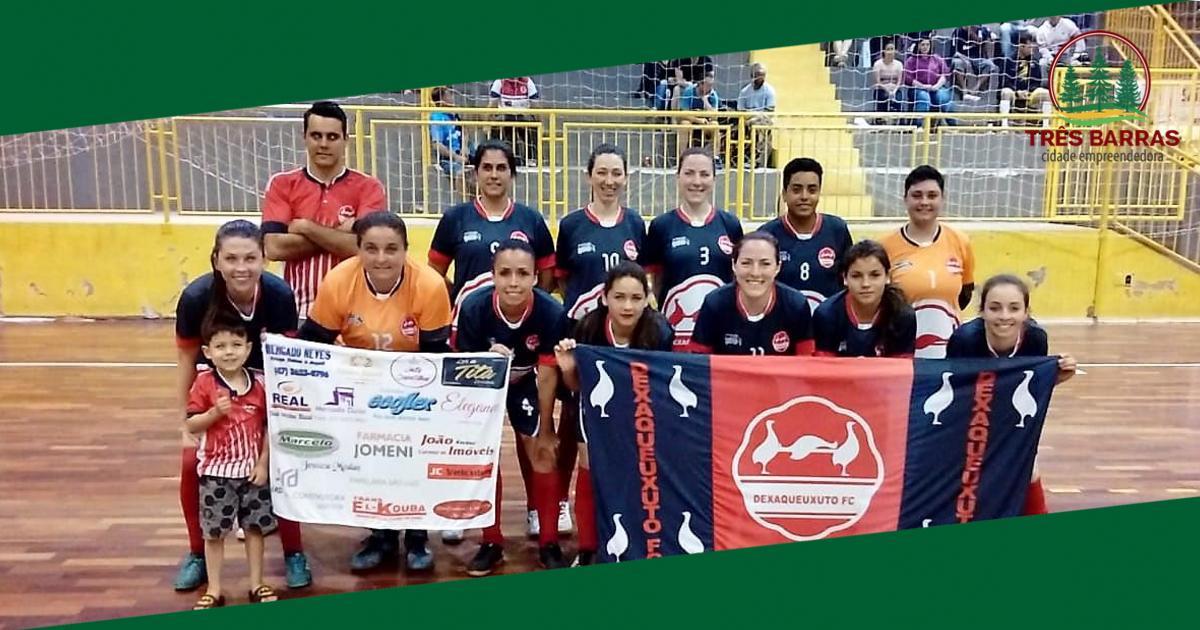 Futsal: Dexaqueuxuto é campeã da categoria Feminino; Máster define seus finalistas
