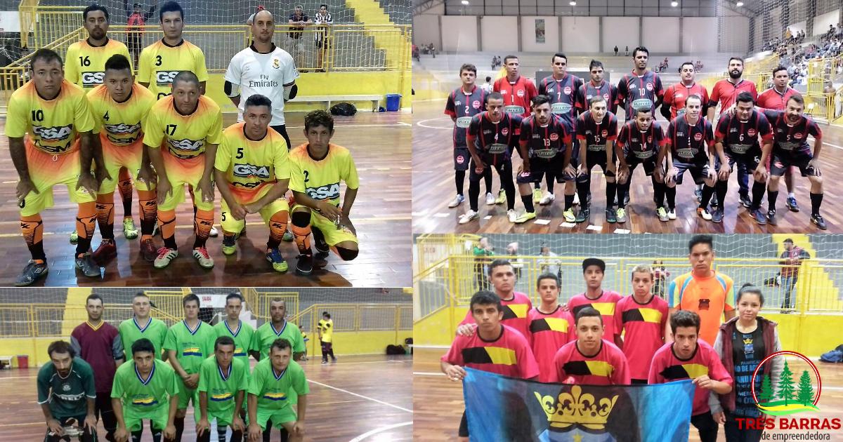 Futsal Livre Masculino começa na noite desta segunda-feira com três jogos