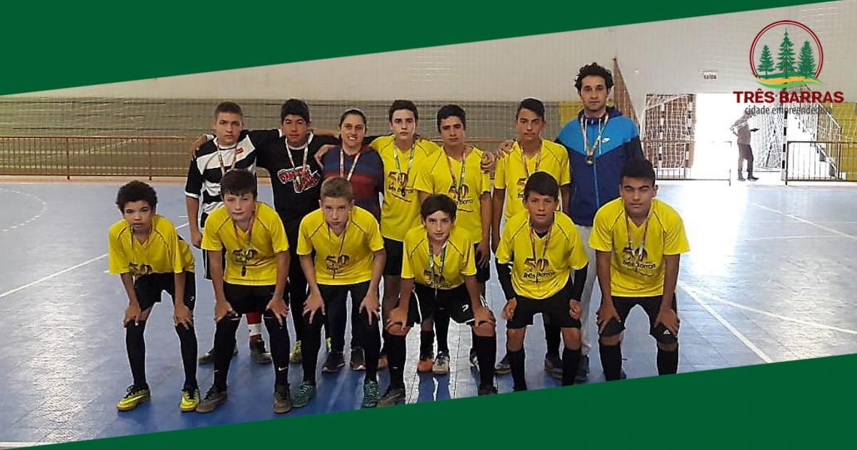 Futsal masculino: escola municipal Guita Federmann é 3° lugar na fase Microrregional dos JESC (12 a 14 anos)
