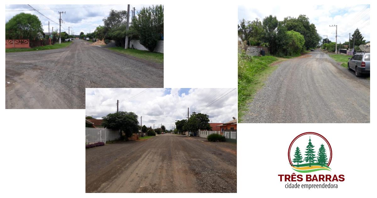 Governo de Três Barras lança editais de licitação para a pavimentação asfáltica de oito ruas