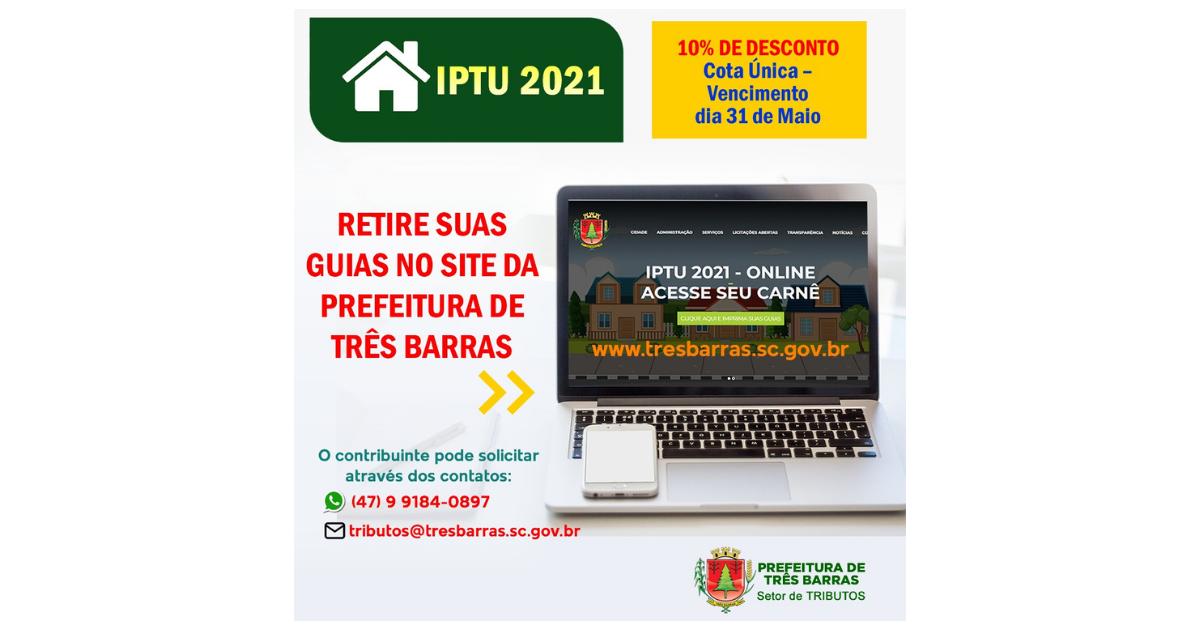 Guias do IPTU podem ser retiradas pelo site da Prefeitura ou solicitadas por Whatsapp e e-mail