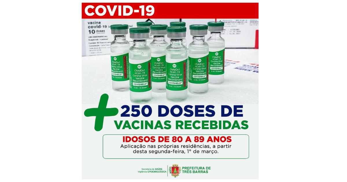 Idosos entre 80 e 89 anos serão vacinados em casa a partir de segunda-feira