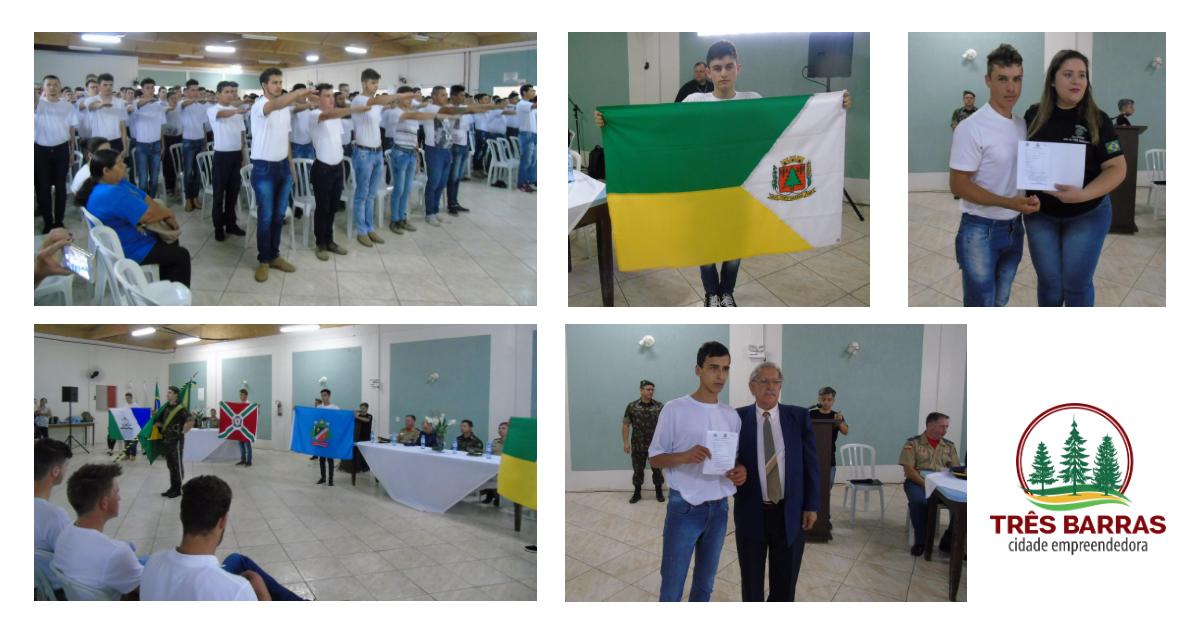 Jovens de Três Barras e região recebem certificados de dispensa do serviço militar