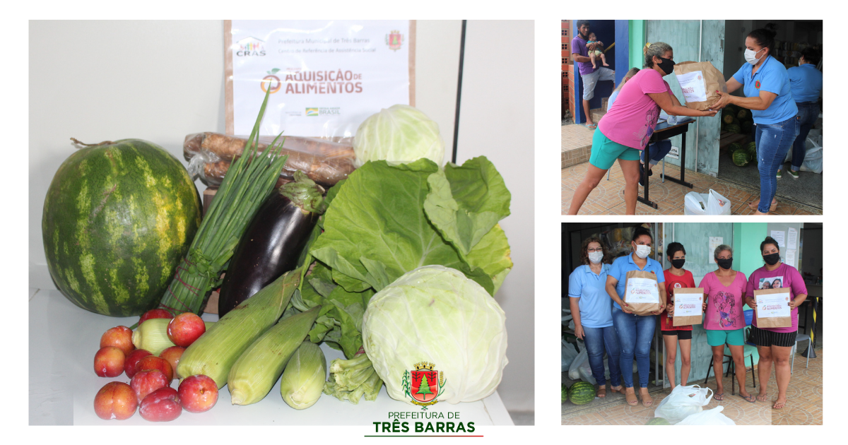 Kits do PAA são entregues a famílias atendidas pelo CRAS em Três Barras