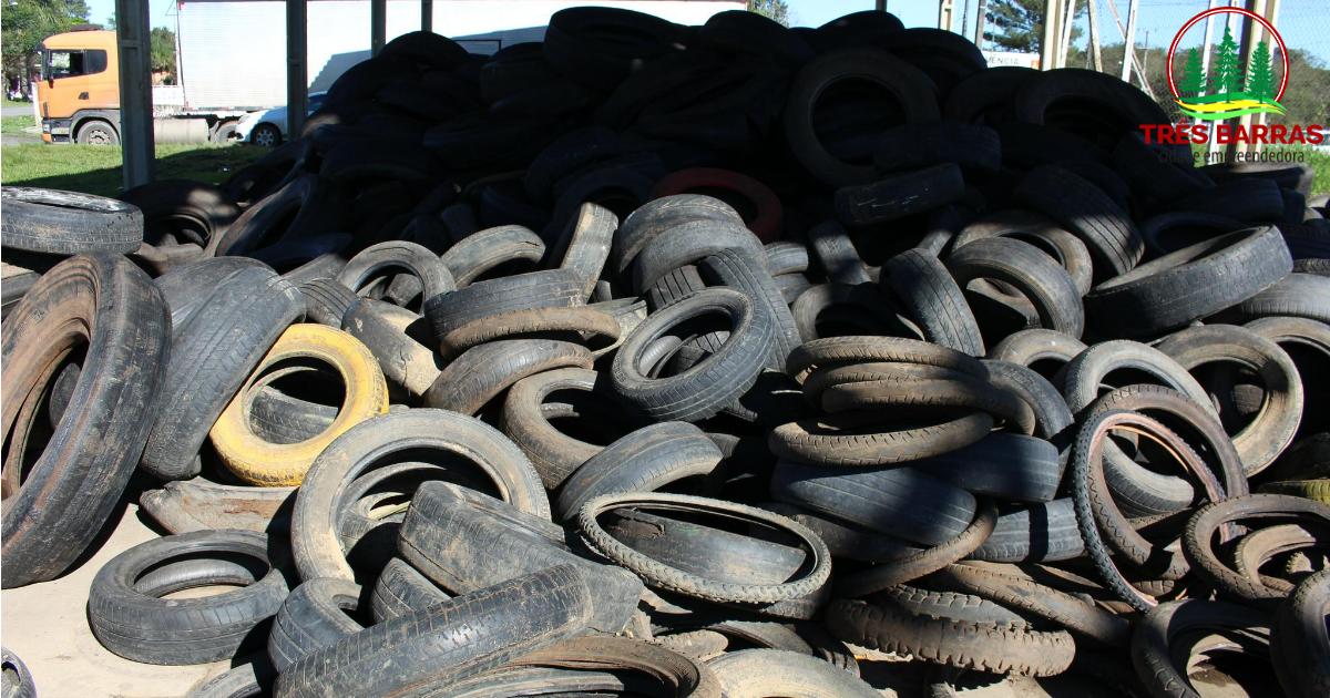 Mais de 1700 pneus em desuso foram recolhidos em Três Barras