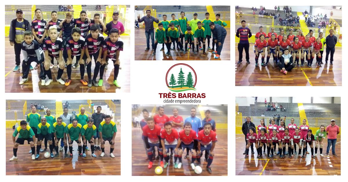 Média de sete gols por partida pela terceira rodada do Futsal Infantil, Feminino e Veteranos