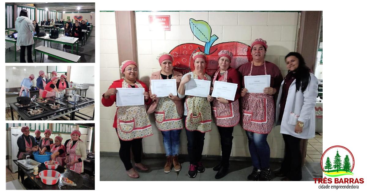 Merendeiras escolares participam de capacitação em Três Barras