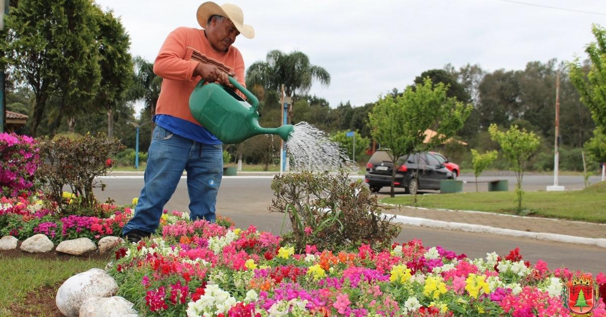 Mês começa com os jardins e canteiros públicos floridos