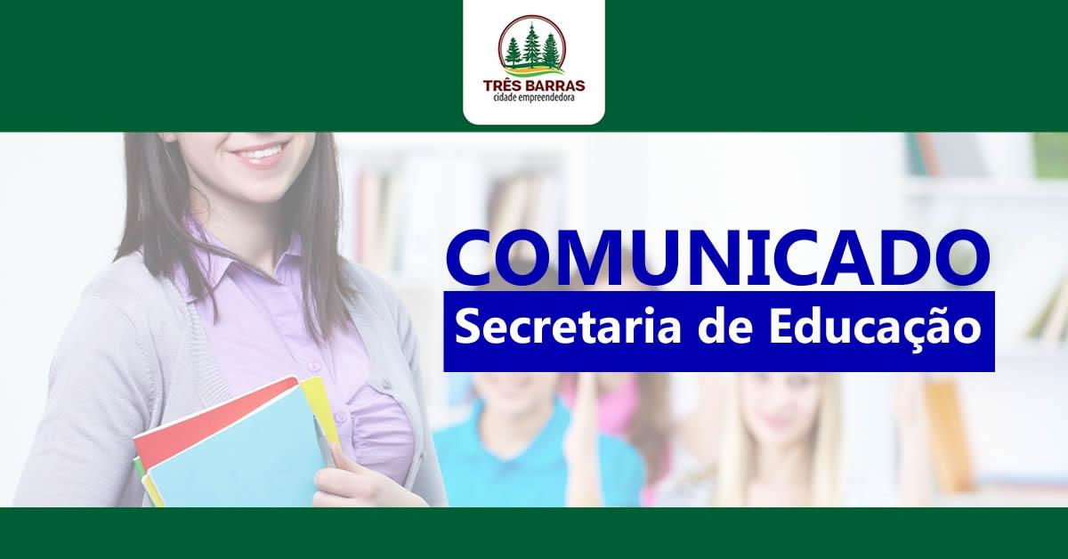 Município de Três Barras anula processo seletivo de contratação temporária de professores e monitores