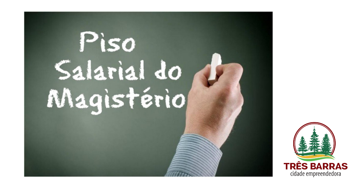Município de Três Barras pagará reposição de 12,84% aos profissionais de carreira do magistério
