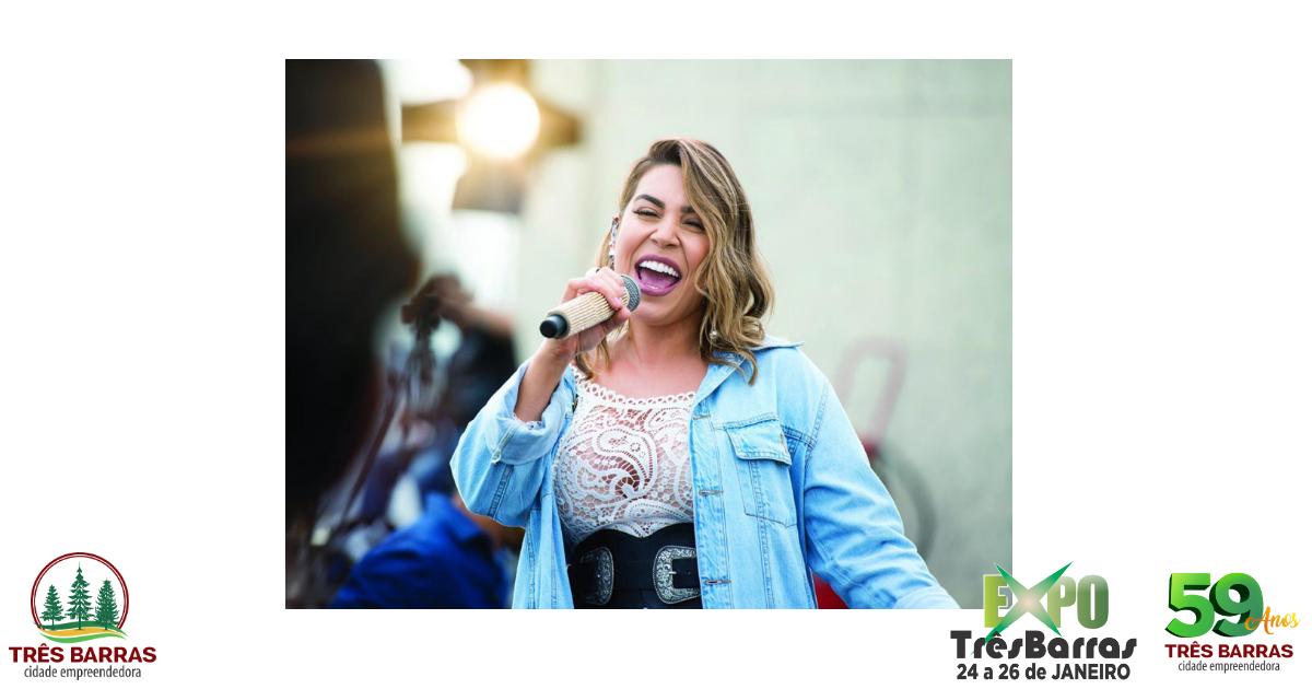 Naiara Azevedo abre os shows nacionais da Expo Três Barras nesta sexta-feira