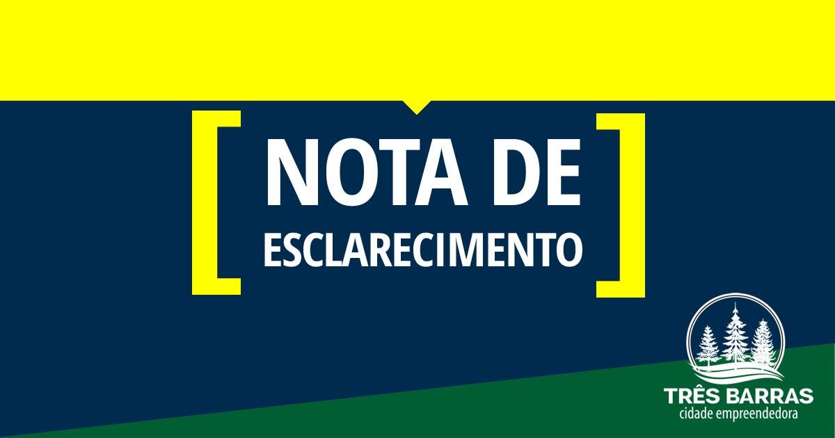 Nota de esclarecimento sobre acidente com vitima fatal ocorrido no distrito de São Cristóvão