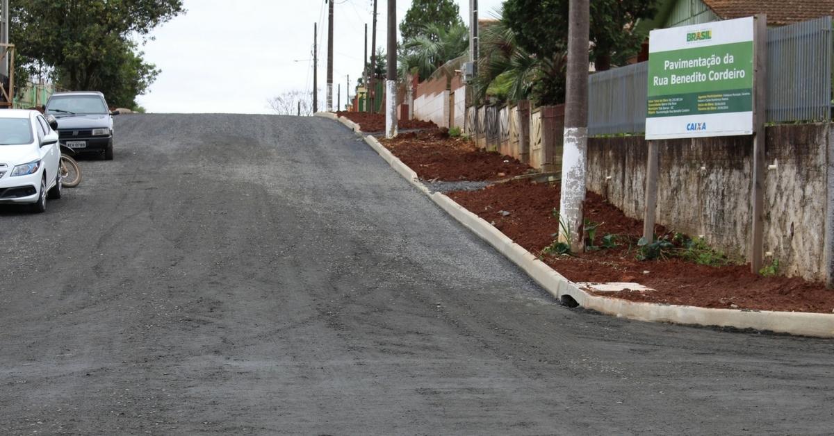 Obras de asfaltamento de ruas entram na reta final em Três Barras