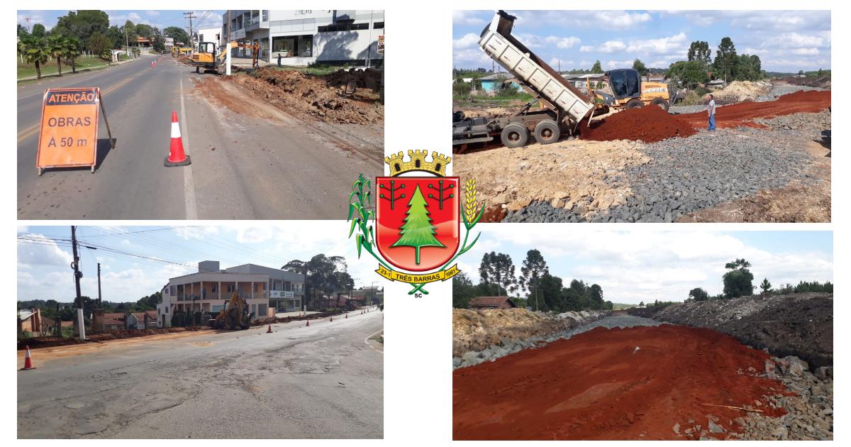 Obras públicas foram retomadas nesta quarta-feira em Três Barras