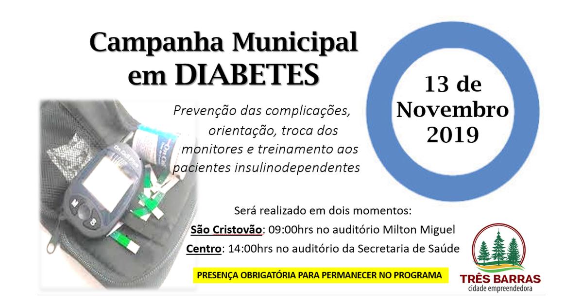 Orientações sobre o uso correto da insulina abrem a programação do Dia Mundial do Diabetes nesta quarta-feira
