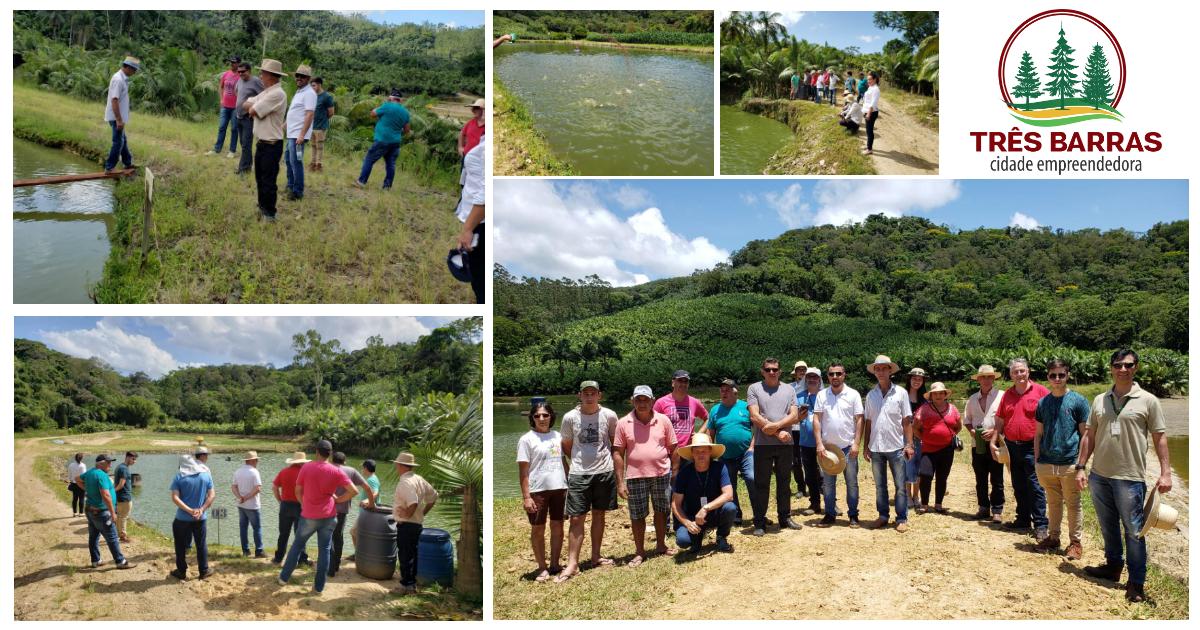Piscicultores participam de visita técnica a pequenas propriedades em Massaranduba