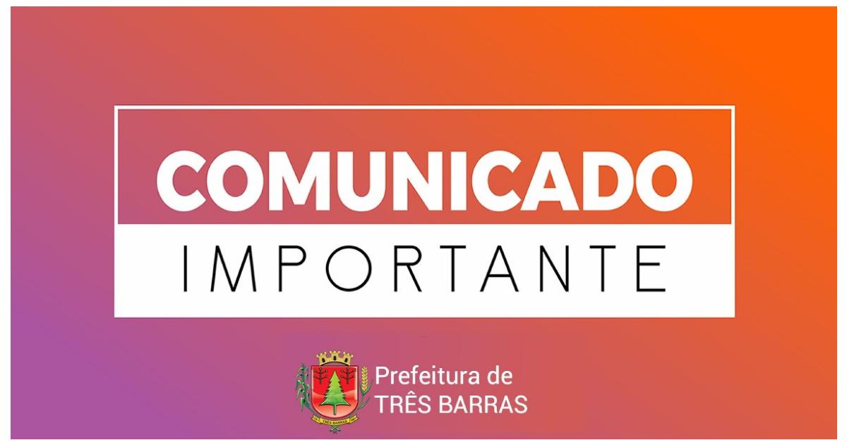 Prefeitura de Três Barras decreta situação de calamidade pública em função da covid-19