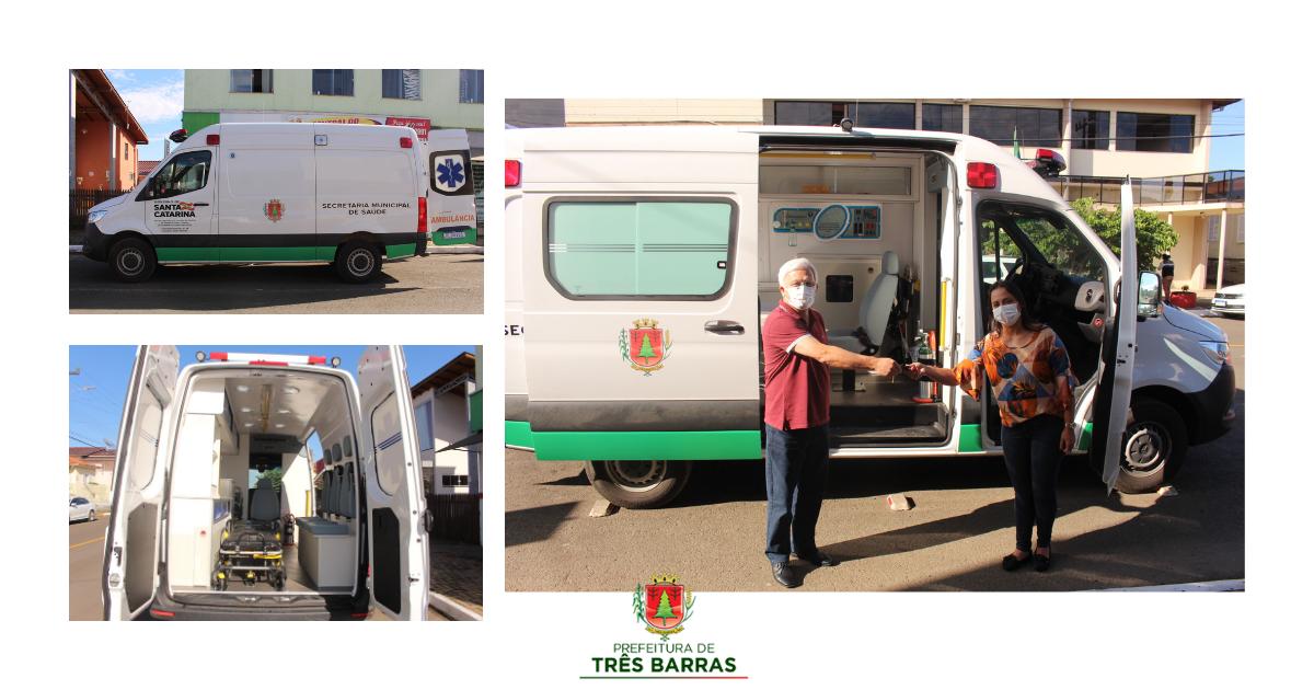 Prefeitura de Três Barras incorpora nova ambulância à frota municipal