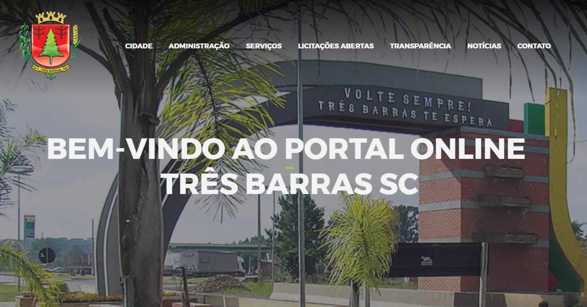 Prefeitura de Três Barras lança novo portal online