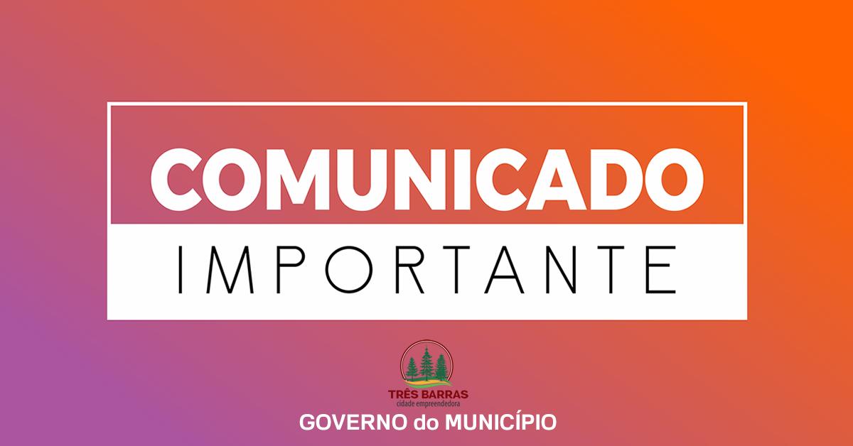 Prefeitura de Três Barras suspende assinatura de ordens de serviço com a empresa Prado e Prado