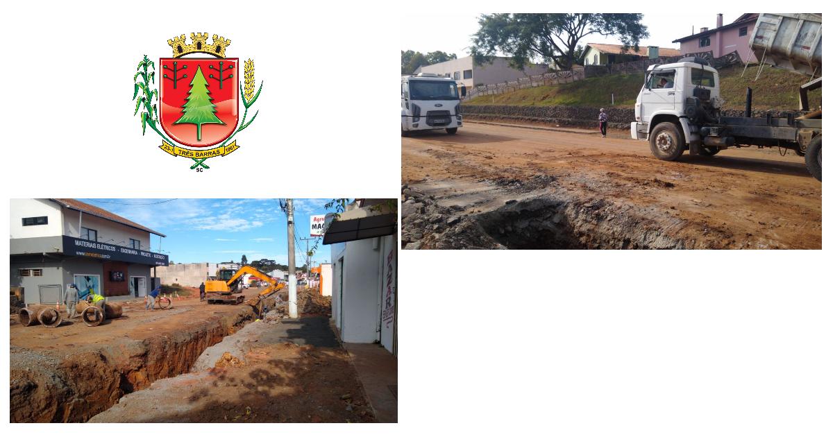 Prefeitura orienta transeuntes a não acessarem local das obras na Avenida Rigesa