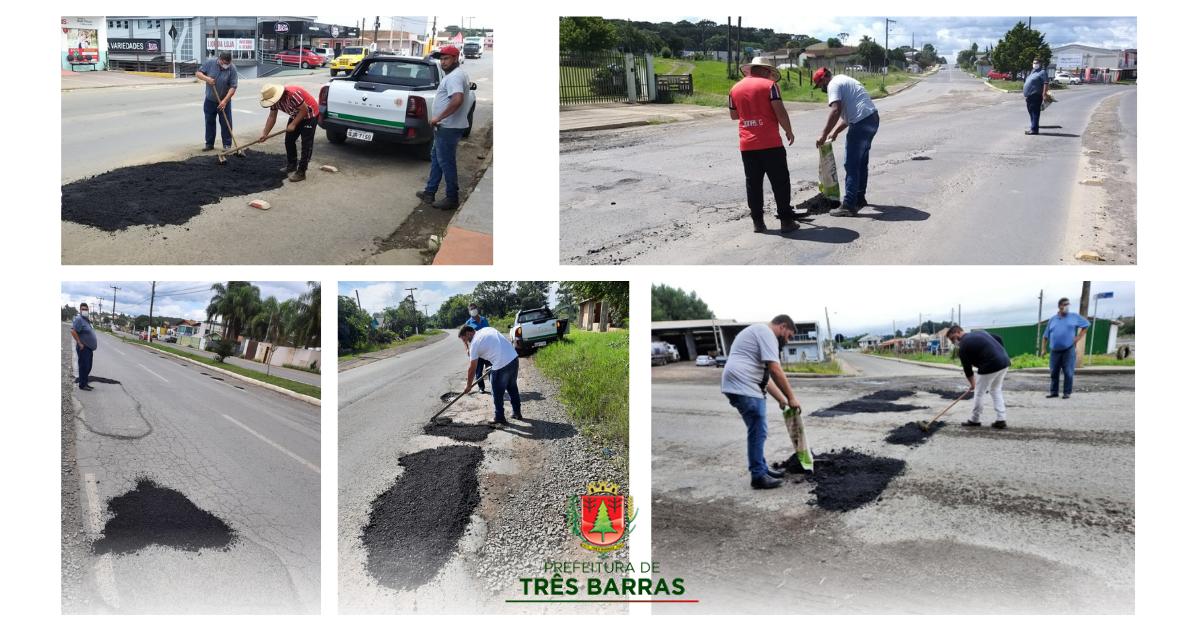 Prefeitura realiza operação tapa-buracos em ruas da sede e do distrito de São Cristóvão